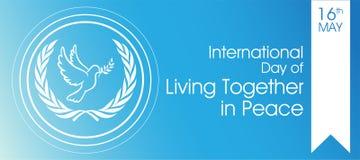 Giorno internazionale di vivere insieme nella pace royalty illustrazione gratis