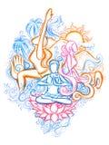 Giorno internazionale di yoga royalty illustrazione gratis