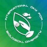 Giorno internazionale per diversità biologica illustrazione vettoriale