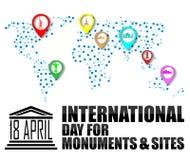 Giorno internazionale per i monumenti ed i siti royalty illustrazione gratis