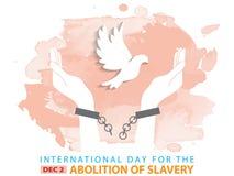 Giorno internazionale per l'abolizione di schiavitù royalty illustrazione gratis