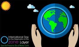 Giorno internazionale per la conservazione dello strato di ozono illustrazione vettoriale