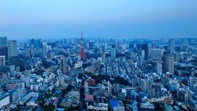 giorno 4K alla notte Timelapse della città di Tokyo, Giappone video d archivio
