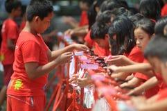 Giorno lavante a mano globale in Indonesia fotografia stock