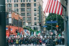 Giorno marzo, Los Angeles del centro di immigrazione Fotografie Stock Libere da Diritti
