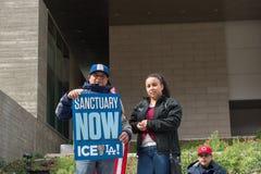 Giorno marzo, Los Angeles del centro di immigrazione Fotografia Stock