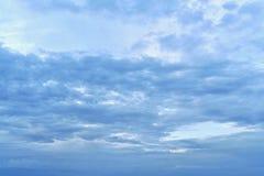 Giorno, mattina o sera, senza raggi visibili del sole fotografie stock libere da diritti