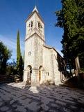 Giorno Mediterraneo della chiesa solo fotografie stock