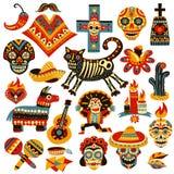 Giorno messicano di festa dell'insieme dei morti illustrazione vettoriale
