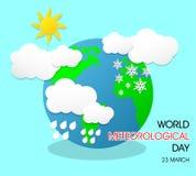 Giorno meteorologico del mondo royalty illustrazione gratis