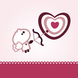 Giorno molto piccolo dei biglietti di S. Valentino del tizio Royalty Illustrazione gratis