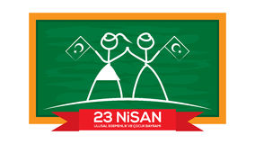 Giorno nazionale dei bambini e 23 aprile della sovranità Fotografia Stock Libera da Diritti