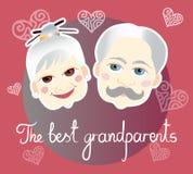 Giorno nazionale dei nonni Cartolina d'auguri Fotografia Stock