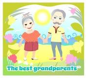 Giorno nazionale dei nonni Cartolina d'auguri royalty illustrazione gratis