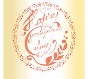 Giorno nazionale dei nonni Cartolina d'auguri con le belle lettere Immagine Stock Libera da Diritti