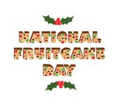 Giorno nazionale del plum-cake Fotografie Stock