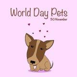 Giorno nazionale dell'animale domestico illustrazione vettoriale