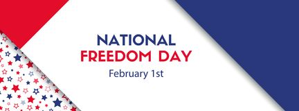 Giorno nazionale di libertà 1° febbraio Bandiera di vettore Immagini Stock