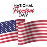 Giorno nazionale di libertà Cartolina d'auguri di vettore Fotografia Stock Libera da Diritti