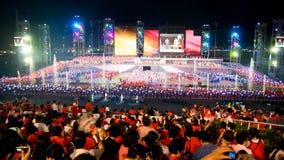 Giorno nazionale di Singapore quarantatreesima Immagine Stock Libera da Diritti