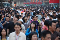 Giorno nazionale il 1° ottobre 2008 di Schang-Hai immagini stock libere da diritti