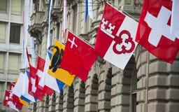 Giorno nazionale svizzero a Zurigo Fotografie Stock