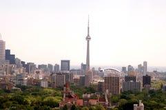 Giorno nebbioso di Toronto fotografia stock libera da diritti