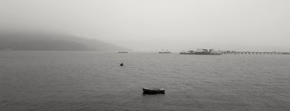 Giorno nebbioso in Fort William, la Scozia, Regno Unito Fotografia Stock