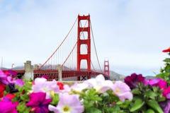 Giorno nebbioso a golden gate bridge San Francisco Fotografia Stock Libera da Diritti