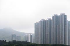 Giorno nebbioso in Hong Kong Immagine Stock Libera da Diritti