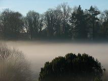Giorno nebbioso nel paese Fotografia Stock