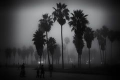 Giorno nebbioso sulla spiaggia di Venezia Immagine Stock