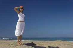 Giorno nella spiaggia Fotografie Stock Libere da Diritti