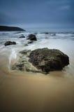 Giorno nero alla spiaggia Immagine Stock Libera da Diritti