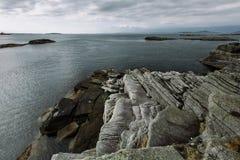 Giorno nuvoloso del paesaggio della Norvegia Fotografia Stock