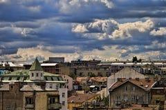 Giorno nuvoloso sopra Belgrado immagini stock libere da diritti