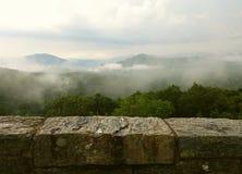 Giorno nuvoloso su Ridge Parkway blu Immagine Stock Libera da Diritti