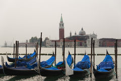 Giorno nuvoloso a Venezia, l'Italia Immagini Stock