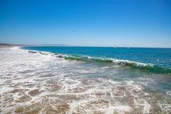 Giorno piacevole al Huntington Beach fotografie stock libere da diritti