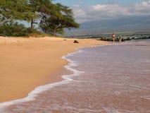 Giorno piacevole alla spiaggia fotografia stock