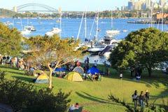 Giorno pieno di sole al porto di Sydney Fotografie Stock Libere da Diritti