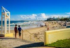 Giorno pieno di sole alla spiaggia Fotografia Stock Libera da Diritti