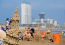 Giorno pieno di sole sulla spiaggia Fotografie Stock