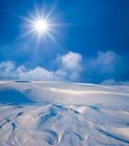 Giorno pieno di sole in una steppa di inverno Fotografia Stock Libera da Diritti