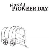 Giorno pionieristico felice Fotografia Stock