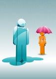 Giorno piovoso. illustrazione vettoriale