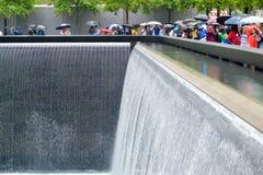 Giorno piovoso al ground zero Fotografie Stock Libere da Diritti