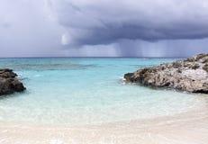 Giorno piovoso caraibico Immagini Stock Libere da Diritti