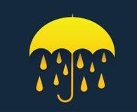 Giorno piovoso con l'ombrello Immagine Stock