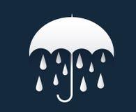 Giorno piovoso con l'ombrello Immagini Stock Libere da Diritti